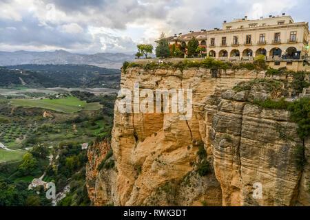 El Tajo Gorge; Ronda, Malaga, Spain - Stock Image