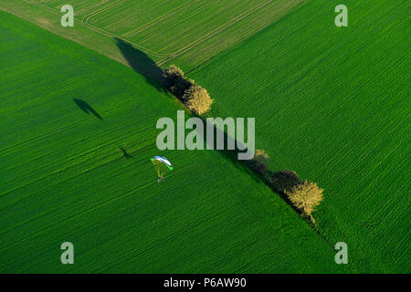 France Europe aerial view of a field Vendee - Stock Image