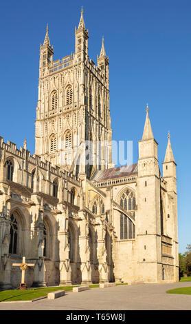 Gloucester cathedral Gloucester city centre Gloucestershire England UK GB Europe - Stock Image