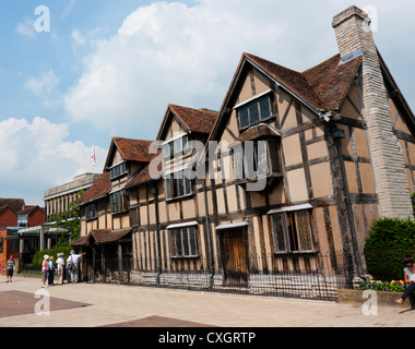 The Tudor period buiding that is the birthplace of William Shakespeare in Stratford upon Avon - Stock Image