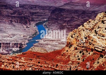 The Colorado River winding through the Grand Canyon National Park 1997 - Stock Image