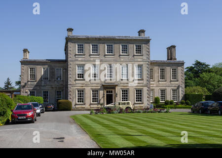 Harrowden Hall, an 18th century historic house, now the home of Wellingborough Golf Club; Great Harrowden, Northamptonshire, UK - Stock Image