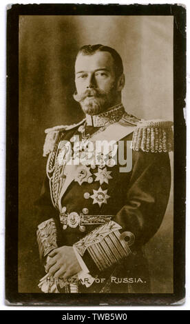 Tsar Nicholas II of Russia (1868-1918).      Date: circa 1913-1914 - Stock Image