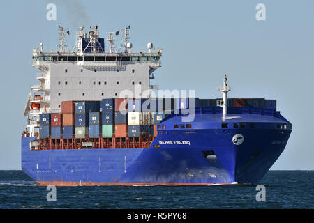 Containerfeeder Delphis Finland - Stock Image