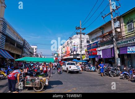 Ranong Road, old town, Phuket town, Thailand - Stock Image