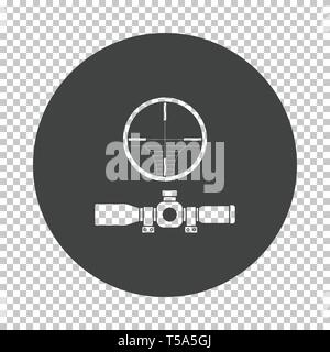 Scope icon. Subtract stencil design on tranparency grid. Vector illustration. - Stock Image