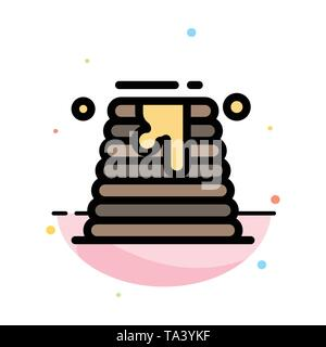 Canada, Cake, Wedding, Wedding Cake Abstract Flat Color Icon Template - Stock Image