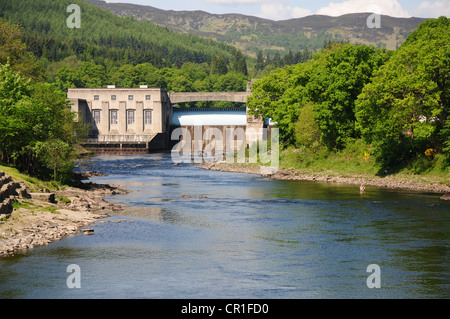 Dam across the River Tummel, Pitlochry, Perthshire - Stock Image