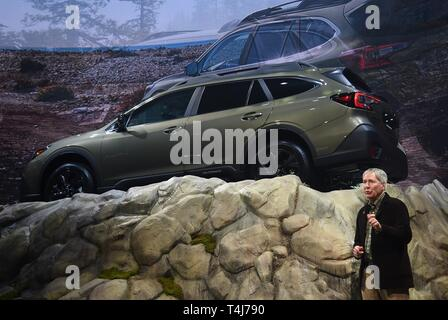 New York, NY, USA. 17th Apr, 2019. 2020 Subaru Outback, Thomas Doll in attendance for New York International Auto Show - WED, Jacob K. Javits Convention Center, New York, NY April 17, 2019. Credit: Kristin Callahan/Everett Collection/Alamy Live News - Stock Image
