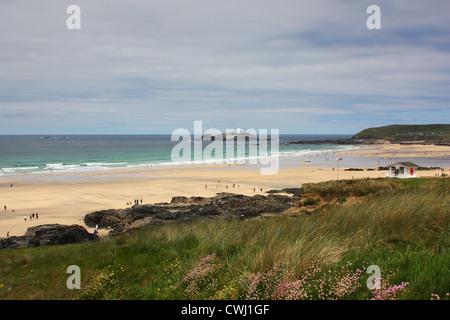 Gwithian Beach on the North Cornish Coast - Stock Image