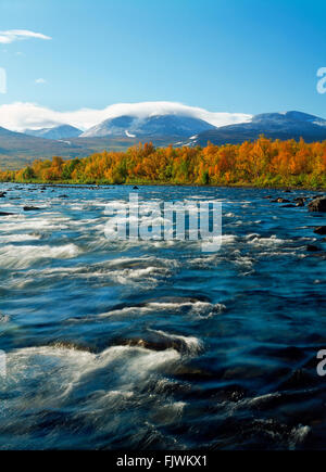 Abisko River in Abisko National Park in Swedish Lapland - Stock Image
