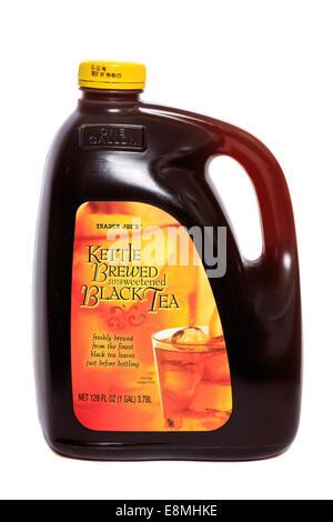 Trader Joe's Kettle Brewed Unsweetened Black Tea - Stock Image