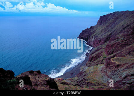 Las Gaviotas beach. Tenerife, Canary Islands, Spain. - Stock Image