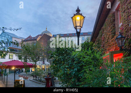 Heckmann courtyards , Heckmannhoefe,  twilight, - Stock Image