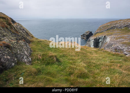 Ireland landscape cliff view on the ocean at West Cork - Stock Image