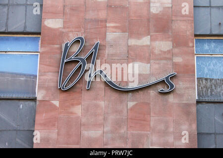 BHS Shop sign, Gloucester - Stock Image