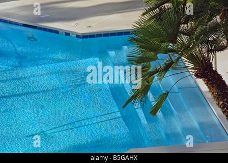 Swimming Pool Aqua Marine Water Looking Down - Stock Image