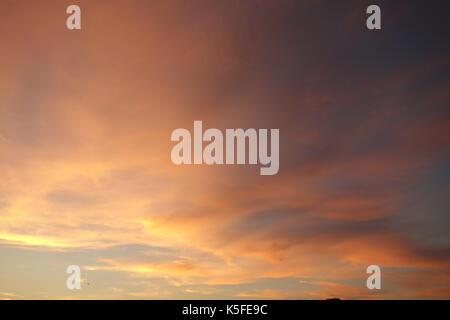 Sunset Clouds, London UK - Stock Image