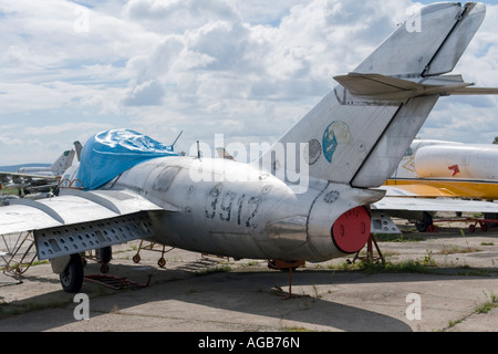 Aero S.102 (MiG-15 BIS) of ex Czech Air Force, Vyskov base - Stock Image