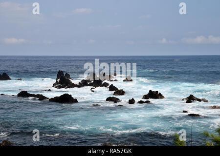 Coastal scenery from the Big Island of Hawaii - Stock Image