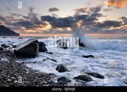 black sea coast near kurortnoye on crimea - Stock Image