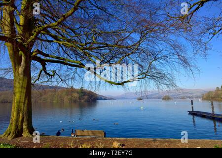 Lake Windermere,Bowness on Windermere,Lake District,Cumbria,England,UK - Stock Image