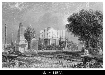 The Mausoleum of Robert Burns Dumfries and Galloway Scotland circa 1860 - Stock Image