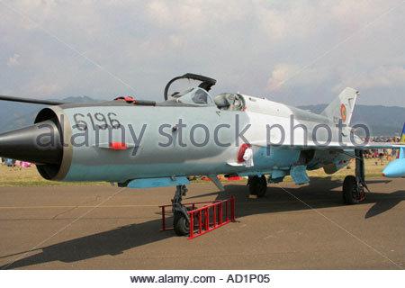 Zeltweg 2005 Airpower 05 airshow Austria Mikoyan Gurevich MiG 21 Lancer C - Stock Image