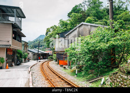 Jingtong old town of Pingxi line in New Taipei City, Taiwan - Stock Image