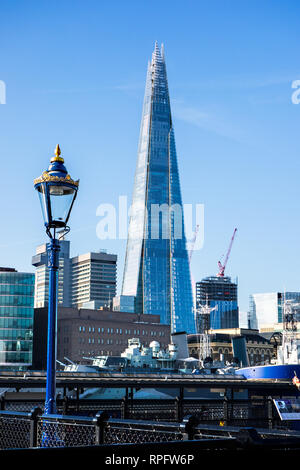 The Shard building standing on the south bank of the river Thames at Southwark London England UK - Stock Image