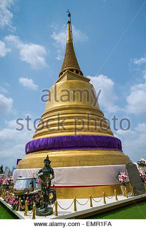 Wat Saket known as The Golden Mount in Bangkok - Thailand - Stock Image