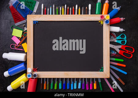 Back to school concept with space for your text - Stock Image