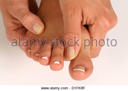 ACHING FEET - Stock Image