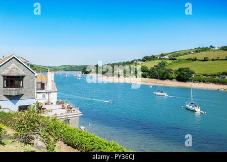 3 June 2018: Salcombe, Devon, UK - Salcombe and the Kingsbridge Estuary Devon UK - Stock Image