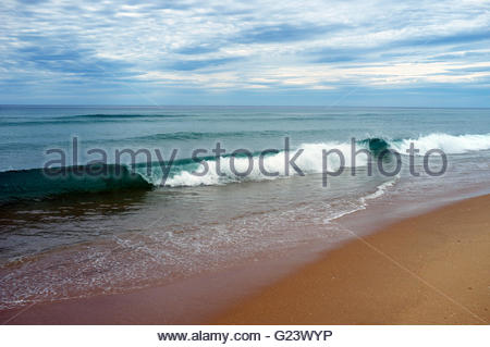 Breaking wave on a beach. Australia. - Stock Image
