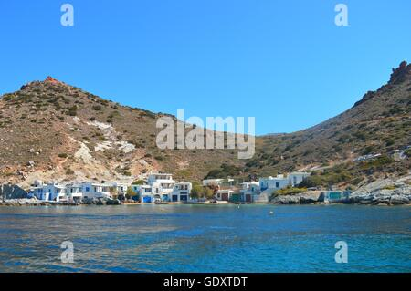 Traditional village on Milos Island, Greece - Stock Image
