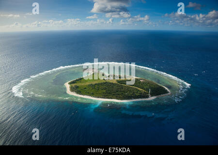 Aerial of Lady Elliot Island, Great Barrier Reef QLD Australia - Stock Image