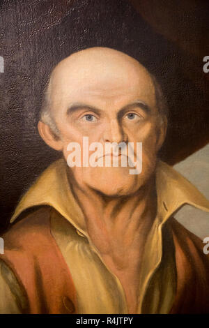 Portrait oil painting of George Coombs, 1768-1810, Radstock museum, Somerset, England, UK - Stock Image