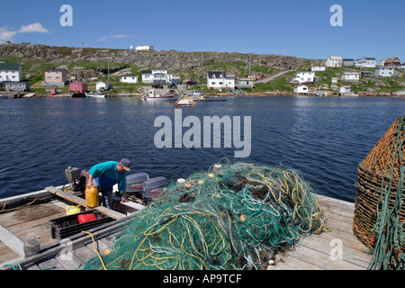 Greenspond Outport fishing harbour on the Newfoundland east coast - Stock Image