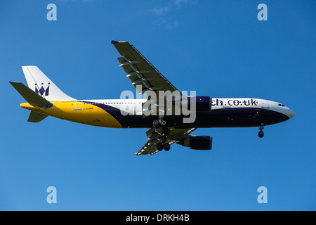 Monarch airbus A300 to land - Stock Image