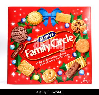 Mcvities Family Circle family favourites biscuits 670g - Stock Image