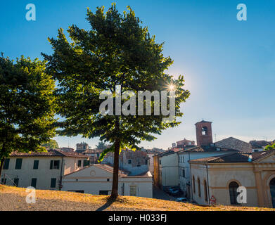 The city of Lucca, Tuscany, Italy from the old walls - Stock Image