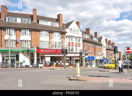 Corner of Finchley Lane and Brent Street, Hendon, London Borough of Barnet, Greater London, England, United Kingdom - Stock Image