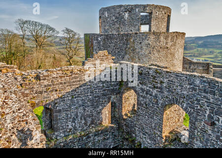 Round Tower, Dinefwr Castle, Llandeilo, Carmarthenshire, Wales, UK - Stock Image