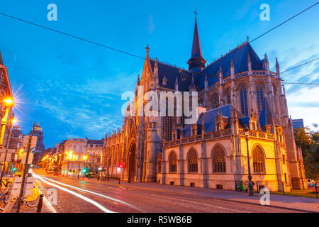 Brussels at sunset, Brussels, Belgium - Stock Image