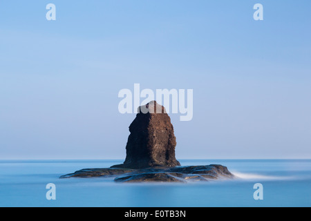 The Sea Stack known as Black Nab at Saltwick Bay, near Whitby, UK - Stock Image