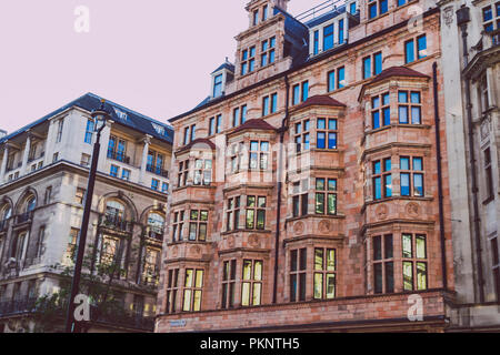 LONDON, UNITED KINGDOM - August 21st, 2018: architecture in London city centre in Piccadilly - Stock Image