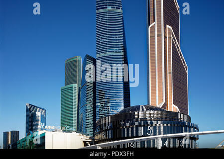 "High rise buildings of Moscow International Business Centre (MIBC), also known as ""Moscow City'. Moscow, Russia. - Stock Image"