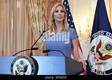 Advisor to the President Ivanka Trump joins Secretary of State Rex Tillerson to deliver remarks at the unveiling - Stock Image