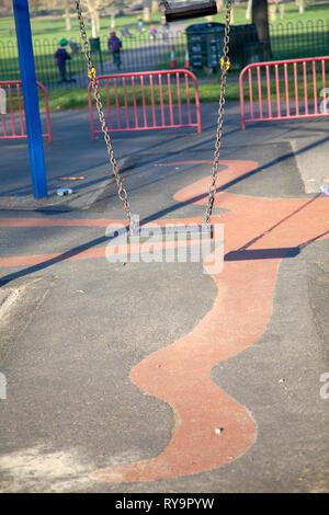 Swing in Park on Clapham Common, London UK - Stock Image